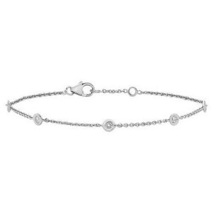 Diamond Bracelet in 9ct White Gold