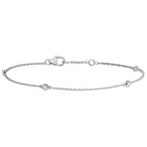 Diamond Bracelet in 18ct White Gold