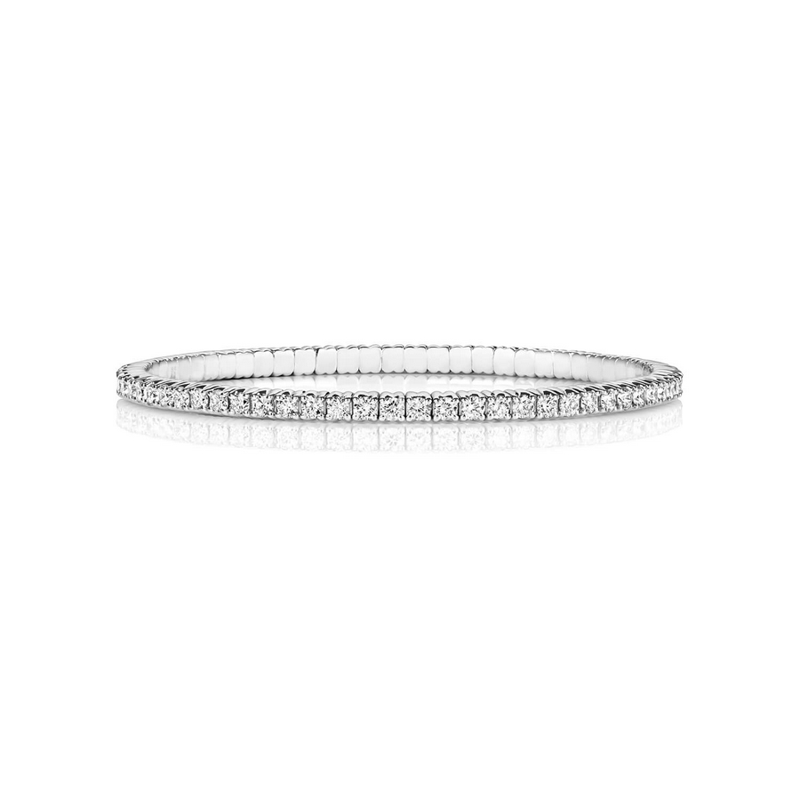 Diamond Stretch Bracelet in 18ct White Gold