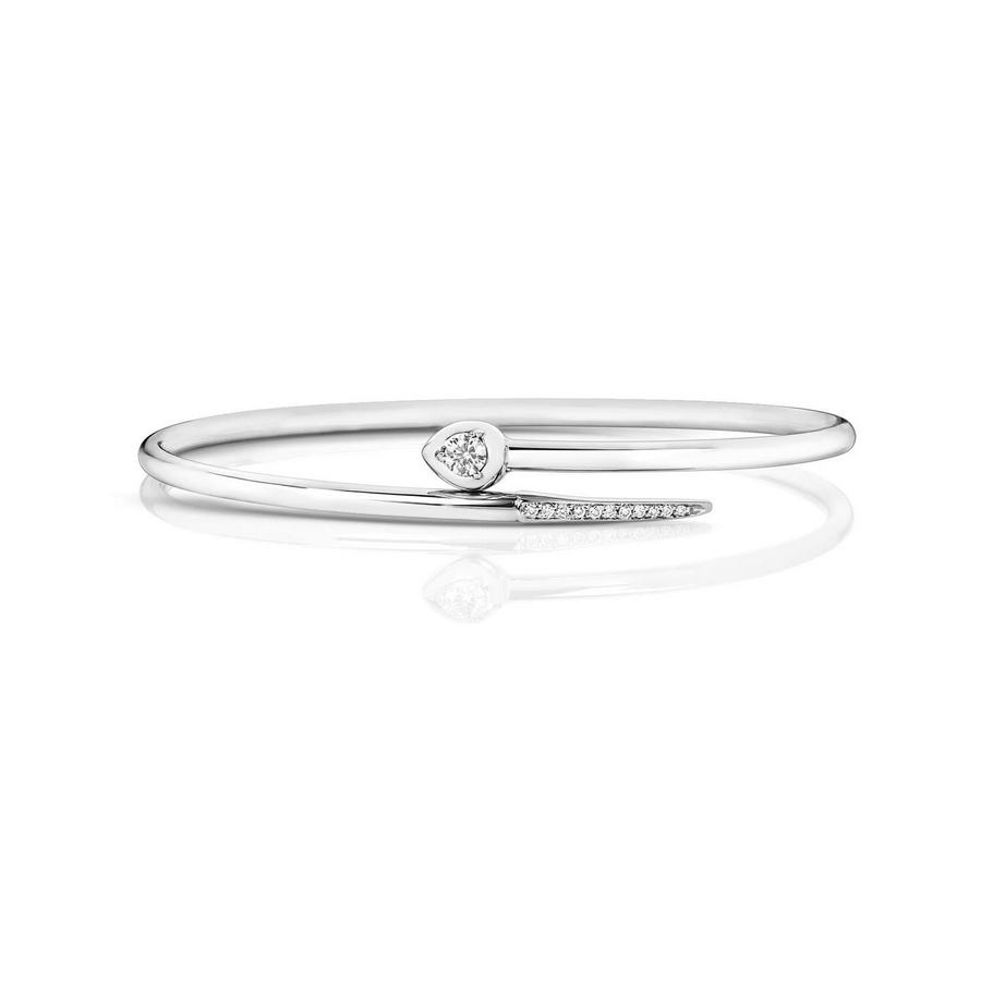 Diamond Bangle in 18ct White Gold