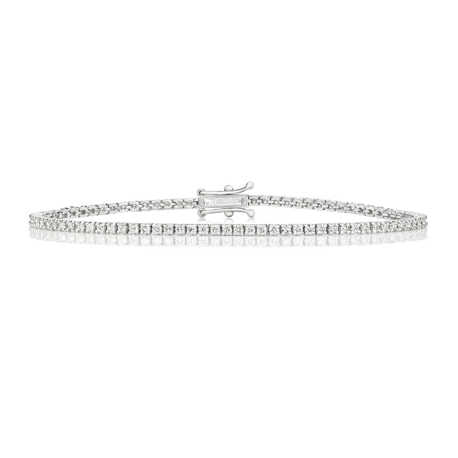 Diamond Tennis Bracelet in 18ct White Gold (variations)