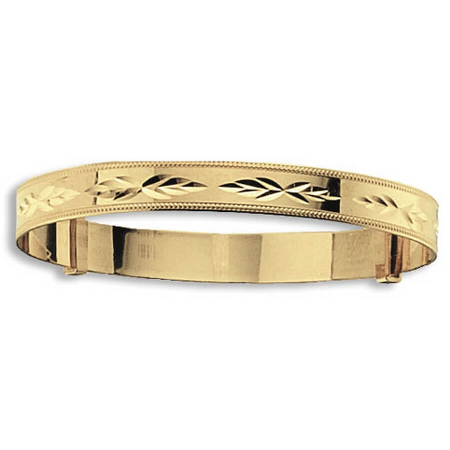 Babies' 5mm 9ct Yellow Gold Expandable Bangle