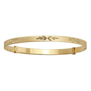Babies' 3mm Diamond Cut Expandable Bangle in 9ct Yellow Gold