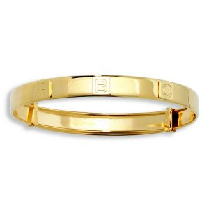 "Babies' 3mm ""ABC"" Expandable Bangle in 9ct Yellow Gold"