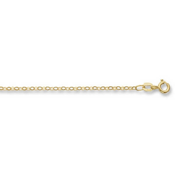 9ct Yellow Gold Faceted Belcher Chain Lengths 14 to 24 inches