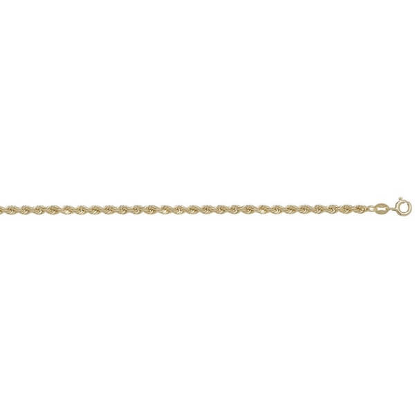 9ct Yellow Gold Rope Chain Lengths 7 to 30 inches