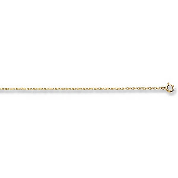 9ct Yellow Gold Prince of Wales Chain Lengths 14 to 20 inches