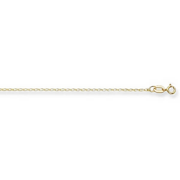 9ct Yellow Gold Rada Chain Lengths 16 to 20 inches