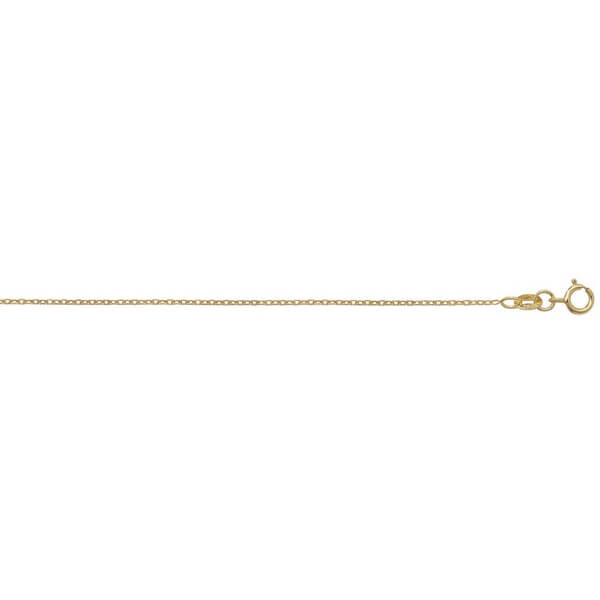 18ct Yellow Gold Rolo Chain Lengths 16 to 20 inches