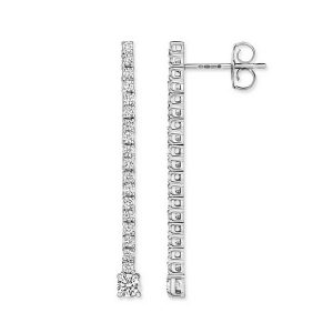 Diamond Line or Drop Earrings 18ct White Gold (0.60ct)