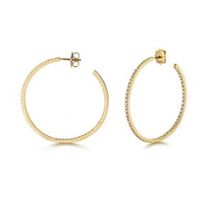 Diamond Large Hoop Earrings in 18ct Yellow Gold (1.14ct)