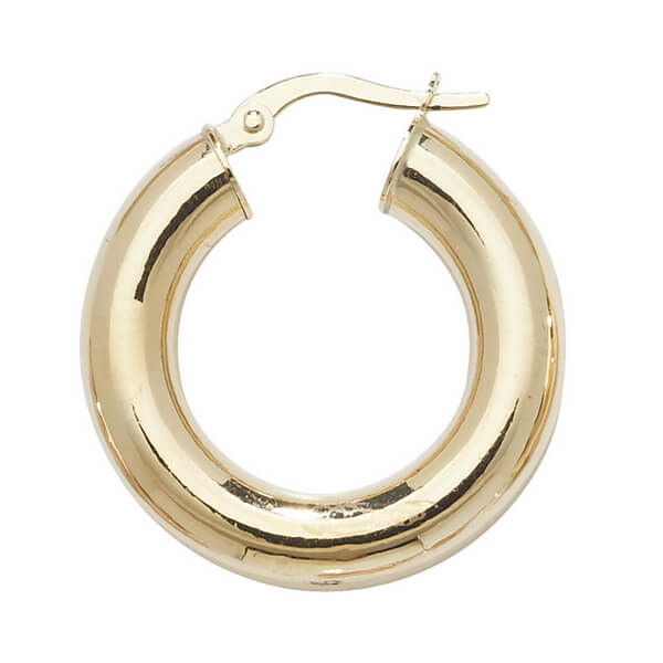 9ct Yellow Gold 15mm to 60mm Earrings (15,20,25,30,40,50,60)