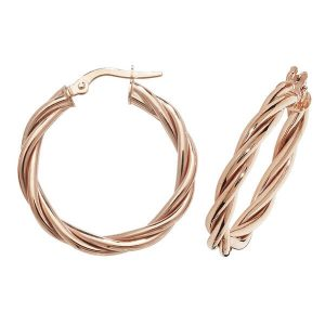 9ct Red Gold 15mm to 30mm Earrings (15,20,25,30)