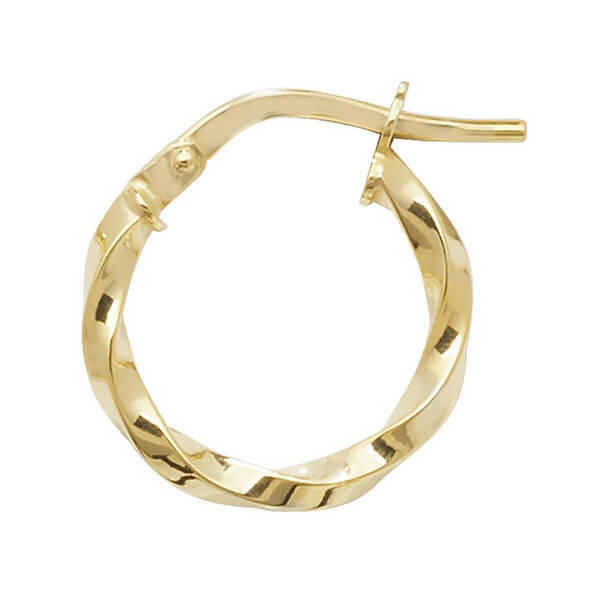 9ct Yellow Gold 10mm to 50mm  Earrings (10,15,20,25,30,50)