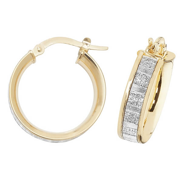 9ct Yellow Gold 10mm to 50mm Earrings (10,15,20,25,30,40,50)