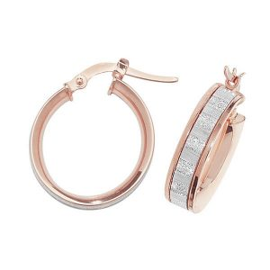9ct Red Gold 10mm to 50mm Earrings (10,15,20,25,30,40,50)