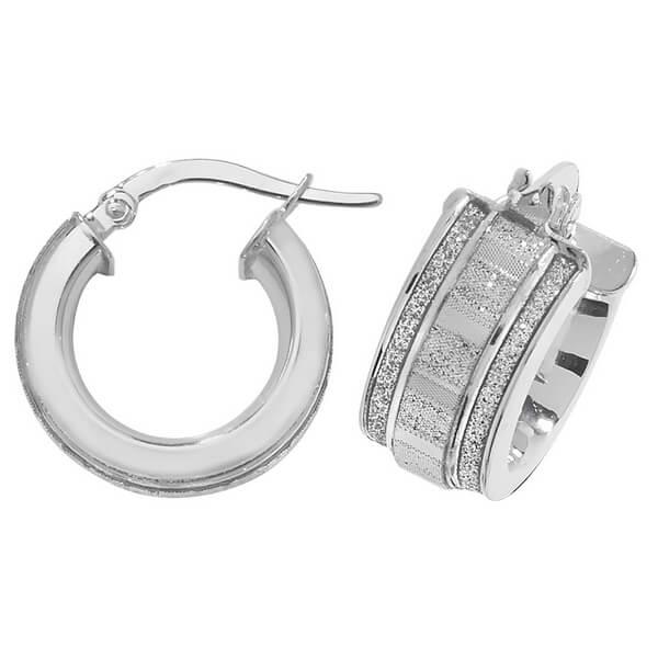 9ct White Gold Earrings