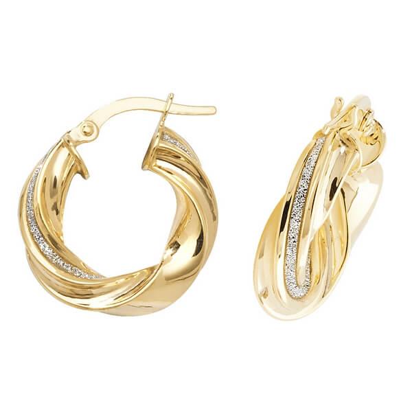 Yellow 9ct Gold Hoop Earrings (10,15,20,25,30mm)