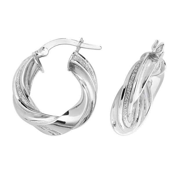 White 9ct Gold Hoop Earrings (10,15,20,25,30mm)