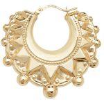9ct Yellow Gold Creole Earrings 1