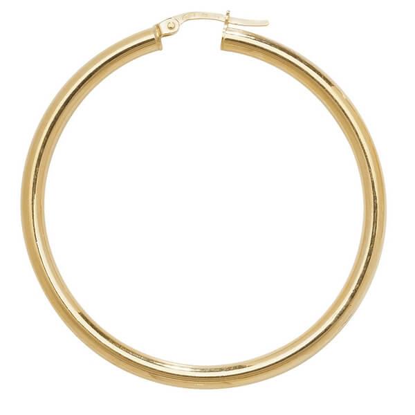 Large 35mm Hoop Earrings in 9ct Yellow Gold