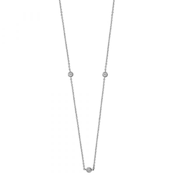 necklace product white solitaire diamond in hockley gold
