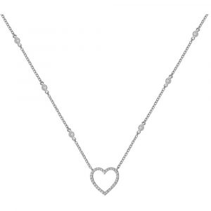 Diamond Heart Necklace in 9ct White Gold (0.37ct)