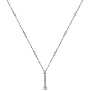 Diamond Bezel and Prong Set Necklace in 18ct White Gold (0.68ct)