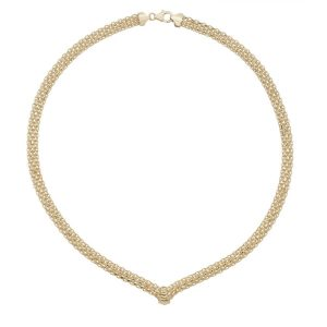 Chainmail Style 17 inch 9ct Yellow Gold Necklace
