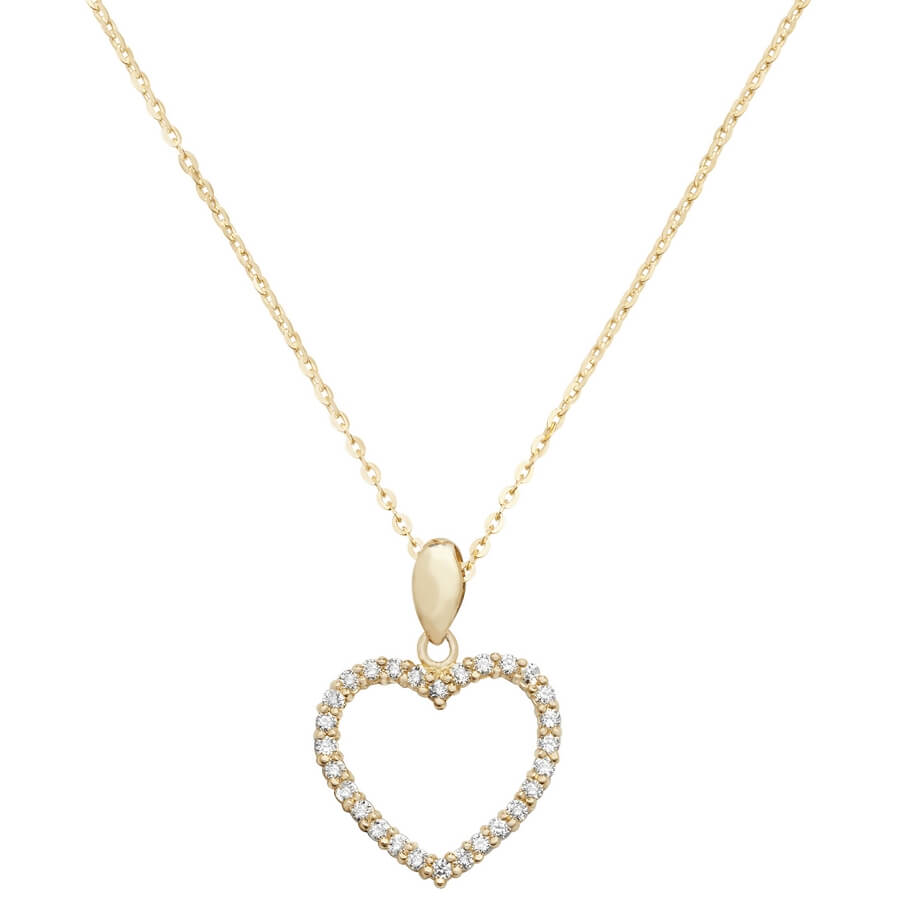 pendant tones a necklaces white color plated with inch en this is shaped floating yellow assortment diamond necklace female crystal and set gold heart