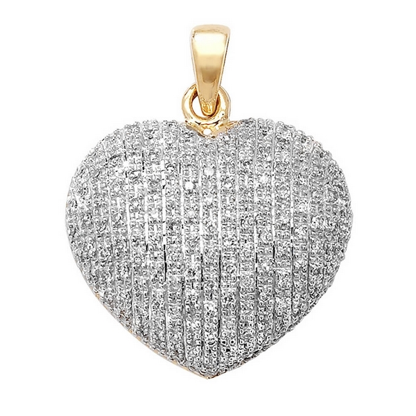 Pave set diamond heart pendant in 9ct yellow gold 045ct hockley pave set diamond heart pendant in 9ct yellow gold 045ct aloadofball Images