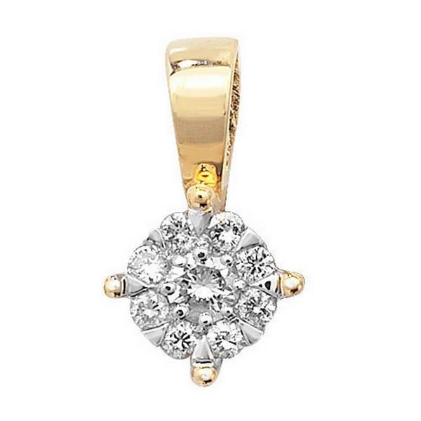 Brilliant Round Diamond Pendant in 9ct Yellow Gold (0.08ct)