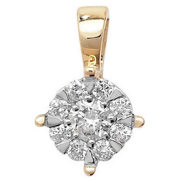 Brilliant Round Diamond Pendant in 9ct Yellow Gold (0.25ct)
