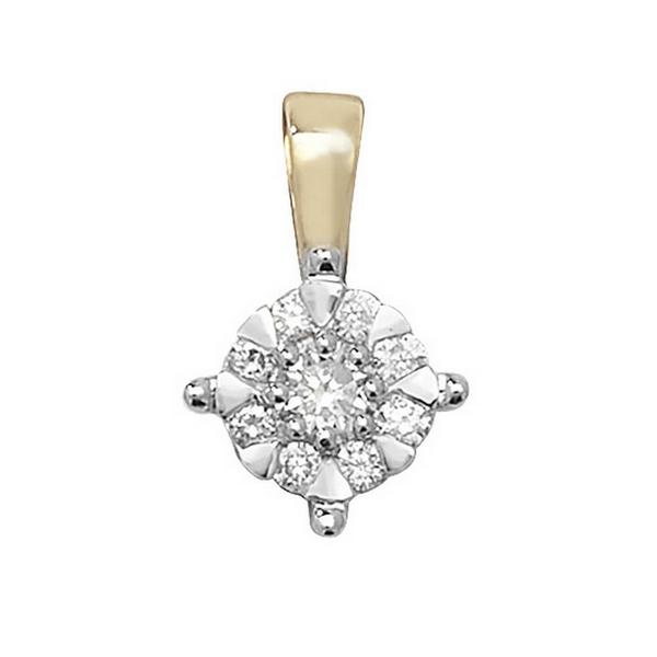 Brilliant Diamond Pendant in 9ct Yellow Gold (0.18ct)
