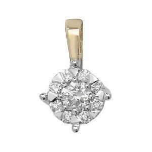 Brilliant Diamond Pendant in 9ct Yellow Gold (0.30ct)