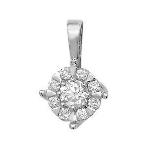Brilliant Diamond Pendant in 9ct White Gold (0.30ct)