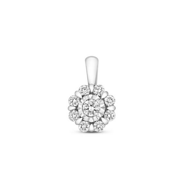 Fancy illusion set diamond pendant in 9ct white gold 033ct fancy illusion set diamond pendant in 9ct white gold 033ct mozeypictures Image collections