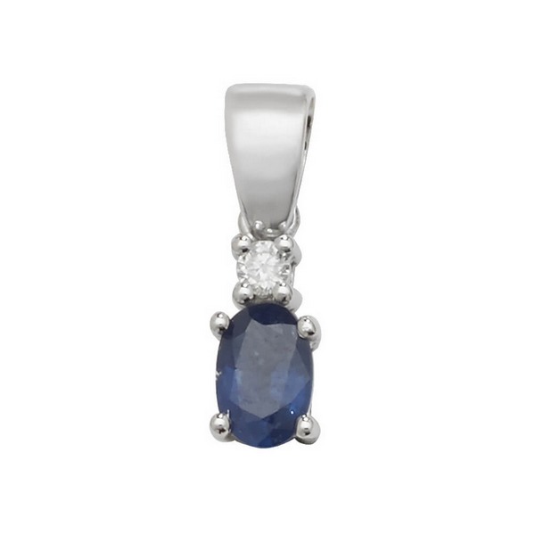 Pear shaped single sapphire and diamond pendant in 9ct white gold pear shaped single sapphire and diamond pendant in 9ct white gold aloadofball Image collections