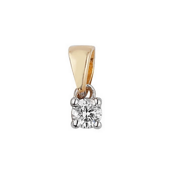 prw white princess solitaire pendant union diamond gold