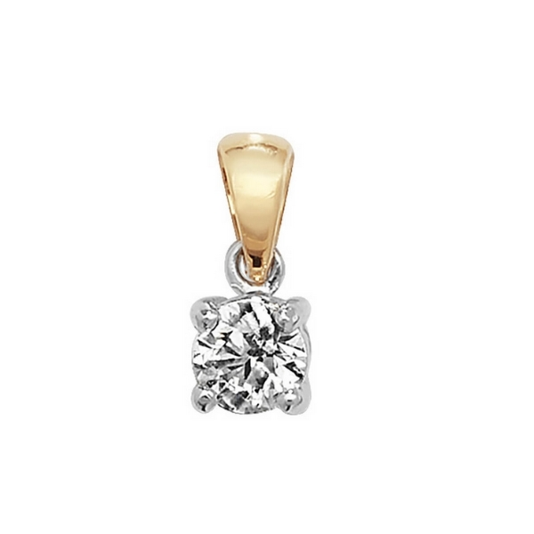 Claw Set Solitaire Diamond Pendant in 18ct Yellow Gold (0.40ct)