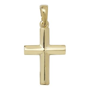 Plain Cross in Yellow Gold