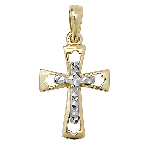 Cross within a Cross Design in 9ct Gold
