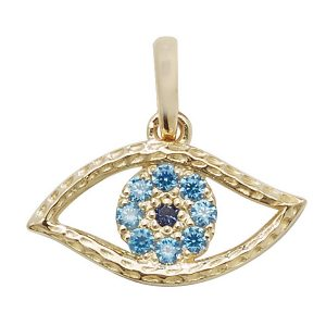 9ct Gold Evil Eye Pendant