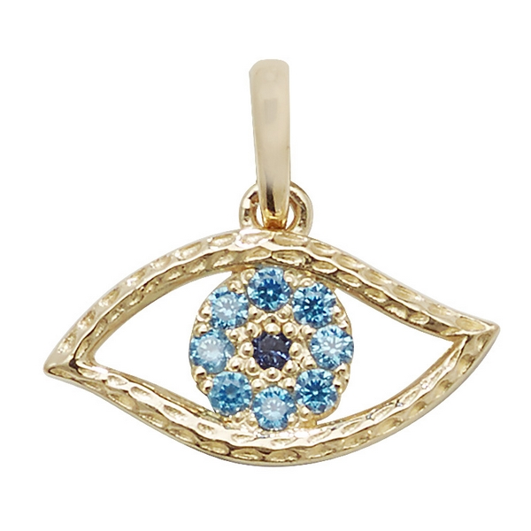 9ct gold evil eye pendant hockley jewellers 9ct gold evil eye pendant aloadofball Choice Image