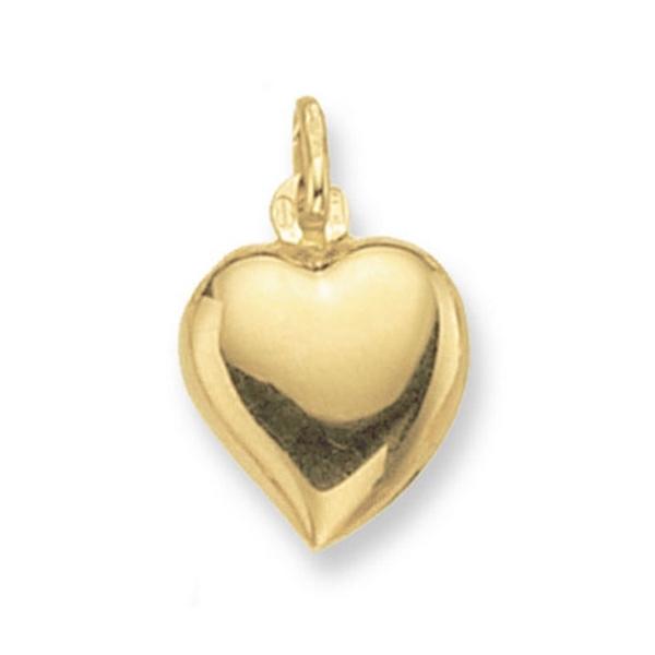 Plain Heart Pendant in Yellow Gold