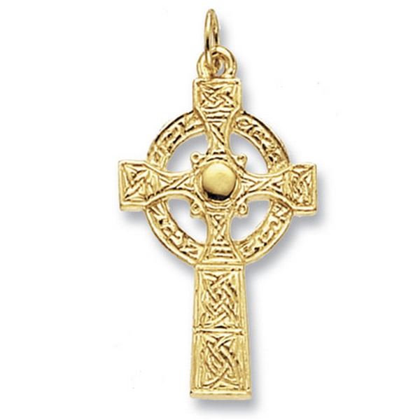 Celtic Cross Pendant in Yellow Gold