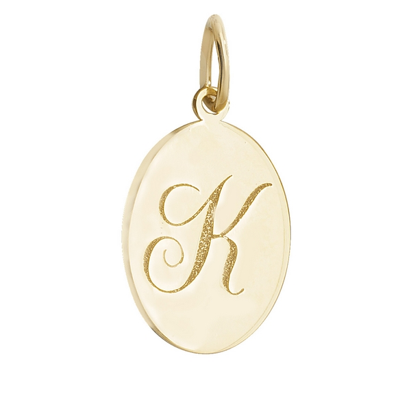 Initial k gold oval pendant hockley jewellers initial k gold oval pendant aloadofball Gallery