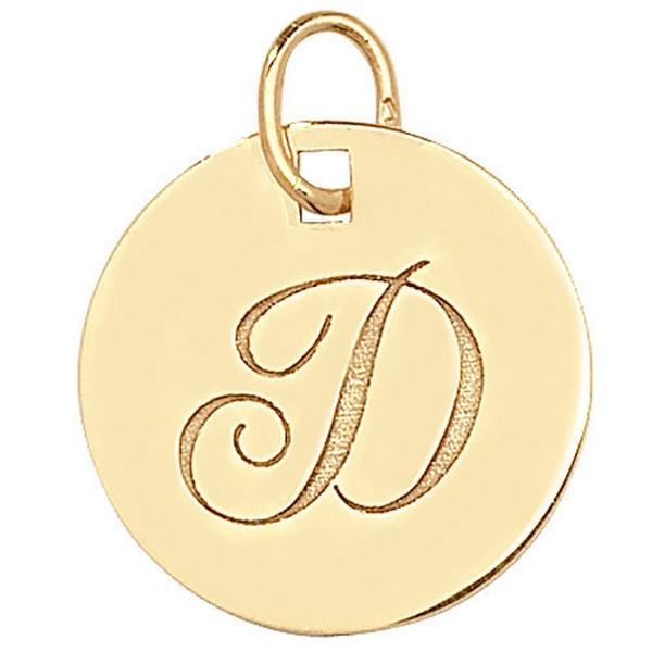 Initial D Gold Round Pendant