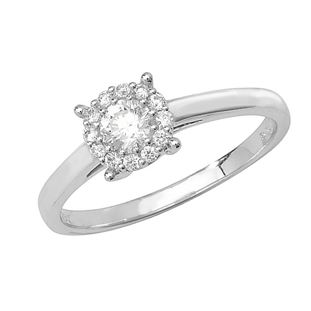 Brilliant Round Diamond Ring in 18ct Yellow or White Gold (0.34ct)