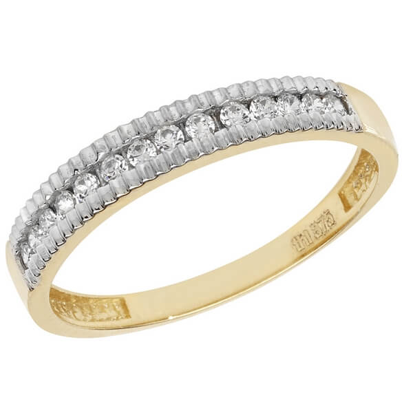 Eternity Style CZ set Ladies Ring in 9ct Yellow Gold